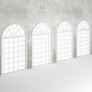 3d wall window set