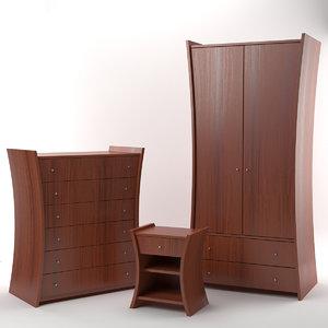 embrace furniture mahogany 3d model