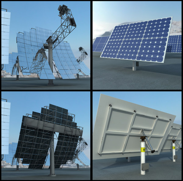 3d solar panel 2 model