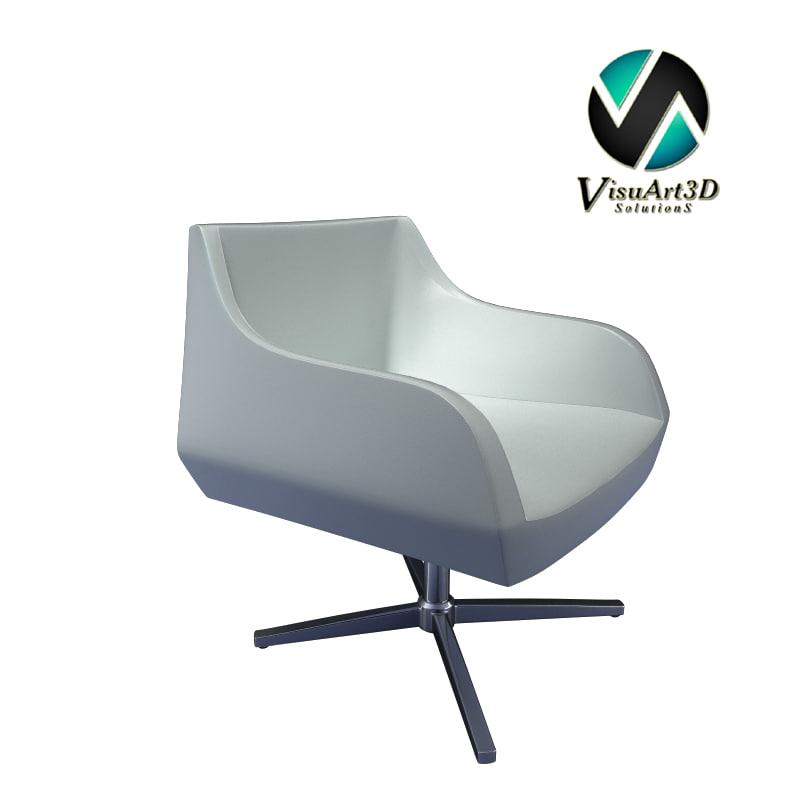 3ds max modern chair 2
