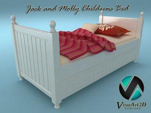 bed child jack 3d model