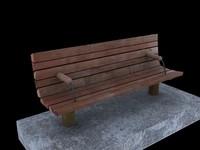 path bench 3d model