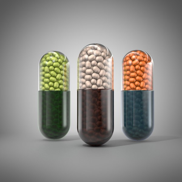 3d model pill capsule