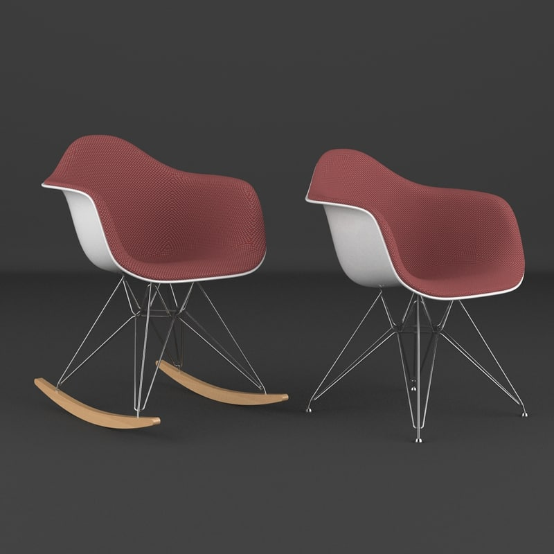 eames plastic arm chair 3d max