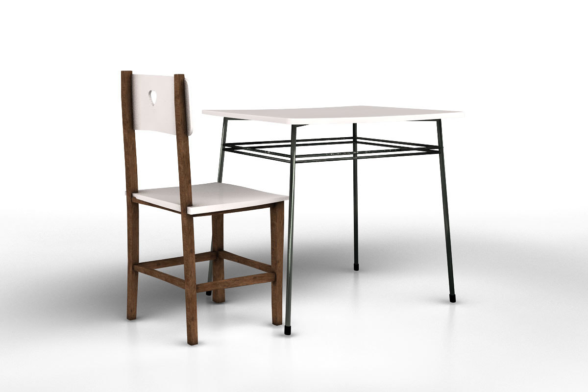 obj table chair
