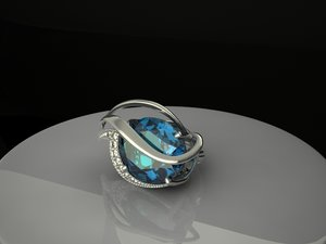 3d earrings topaz london model