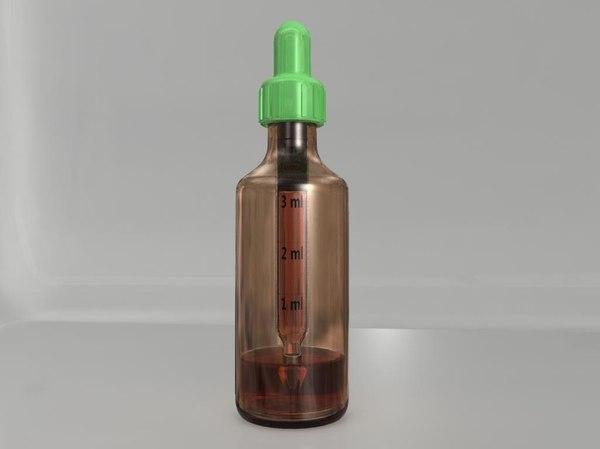 eyedropper bottle 3d model