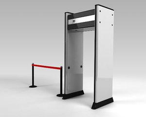3d model metal detector gate
