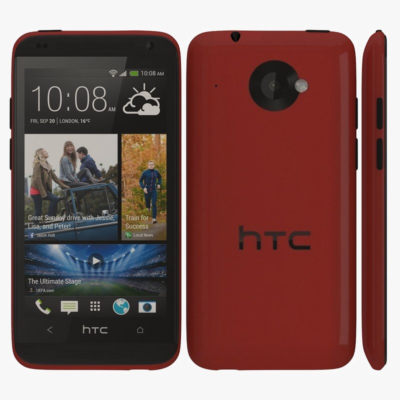 htc desire 601 red 3d 3ds