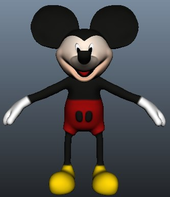 3d model of mickey mouse