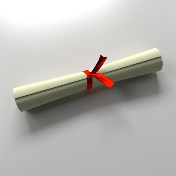 scroll 3d model