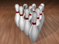 3d 10 bowling pins