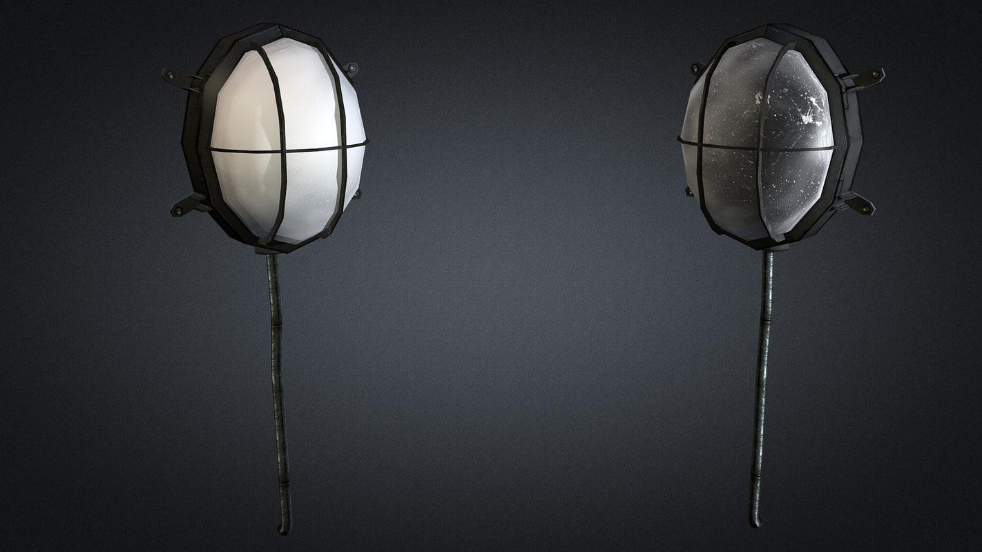 3d model wall lamp 01