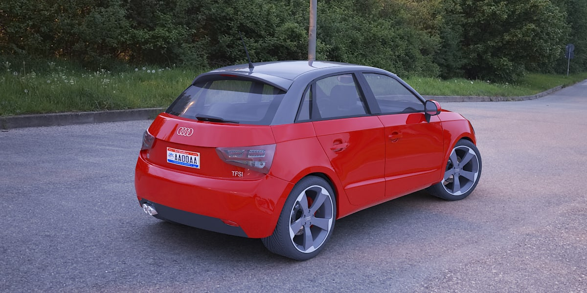 3d model audi a1 sportback