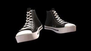 converse allstar athletic shoes 3d model