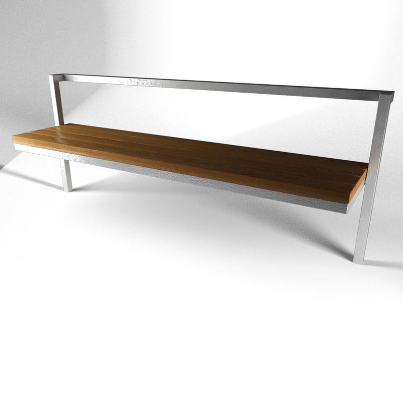 3d model bench 2
