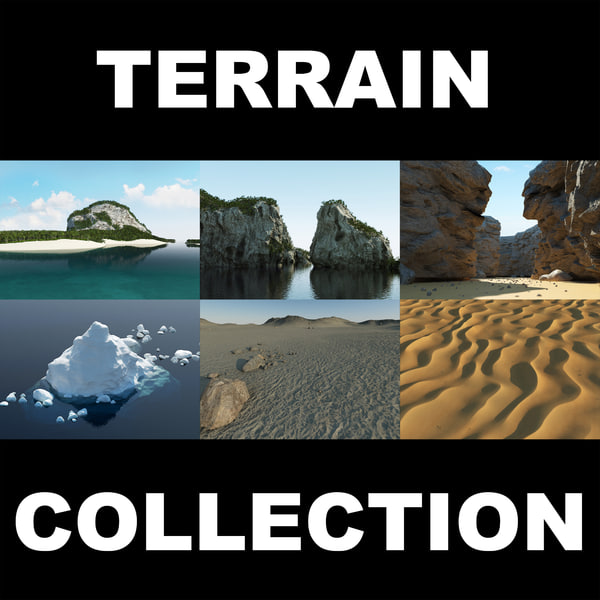 3d model desert terrain landscape