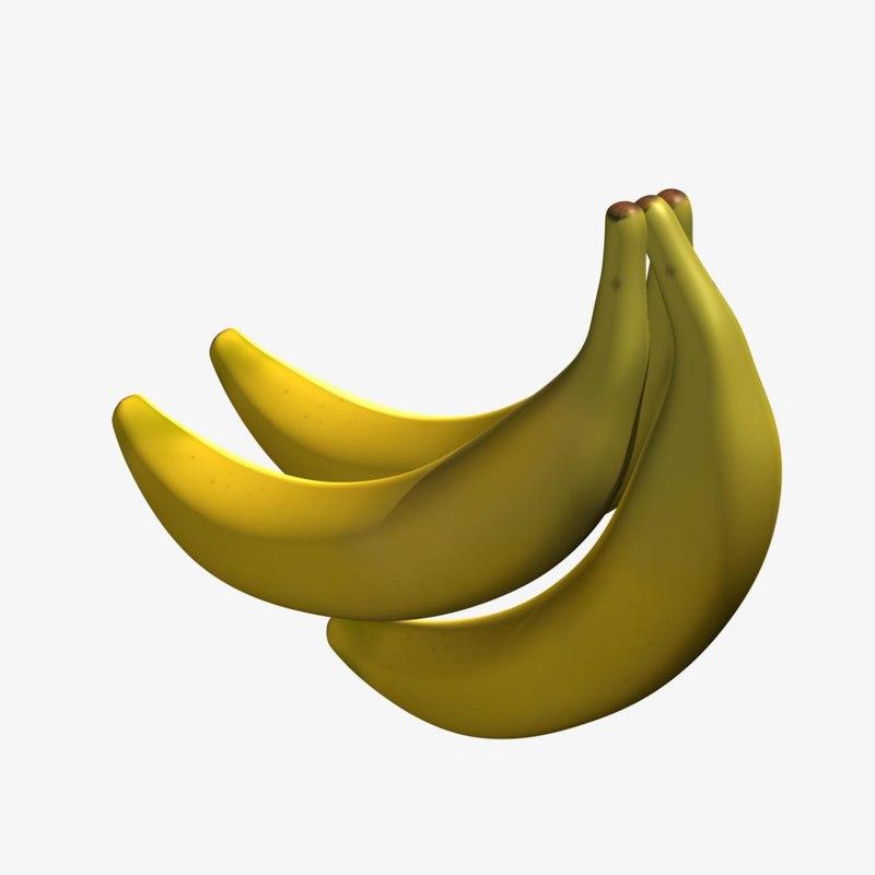 3d obj banana