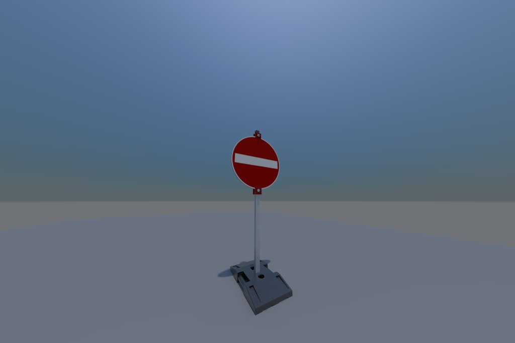 3d model traffic sign