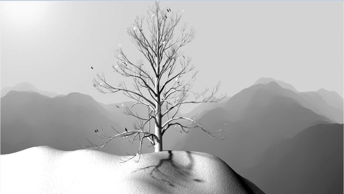3ds max snowfall landscape
