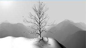 3ds max snowfall landscape