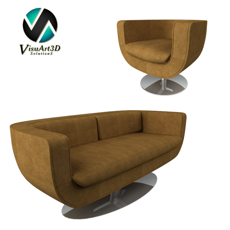 3d modern couch
