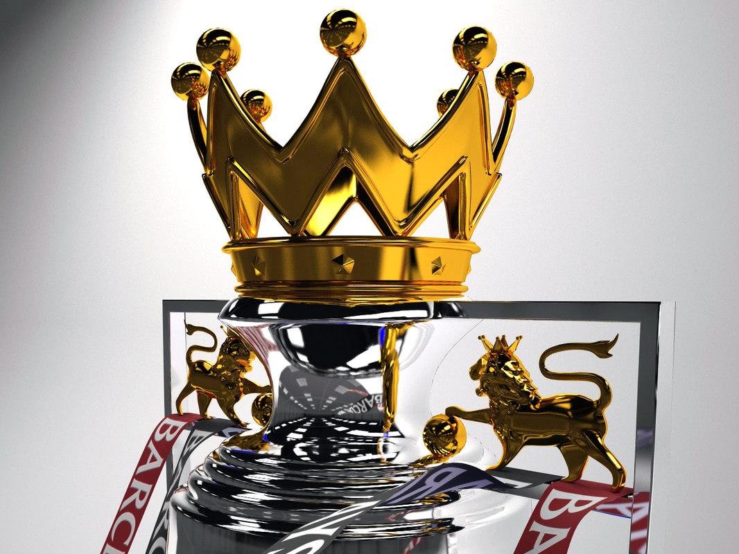3d english premier league trophy