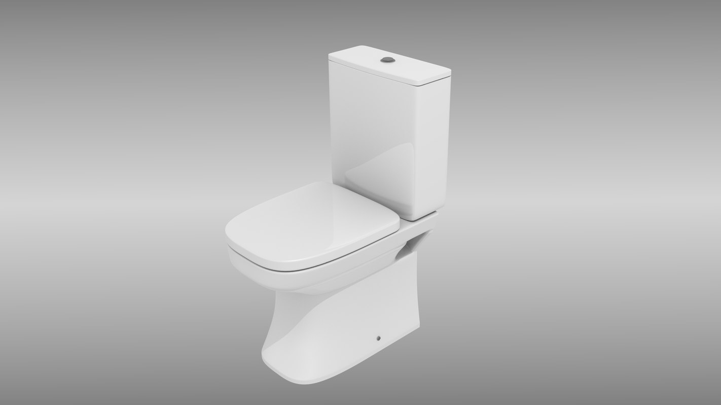 3d modern toilet model