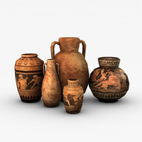 Low Poly Greek Pottery