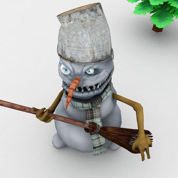 poser figure snowman c4d