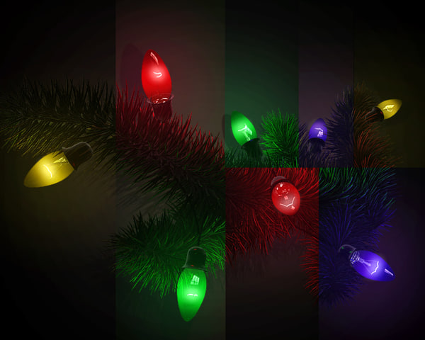 3d amazing christmas light model