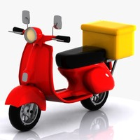 Cartoon Delivery Motorcycle