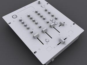 mixer mix dj 3d model