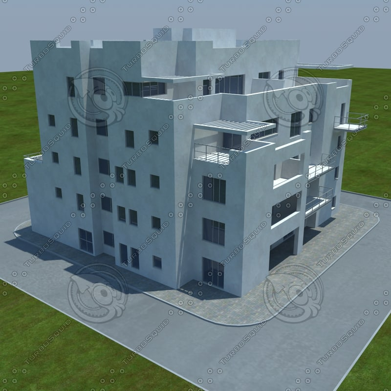 3d model buildings 4