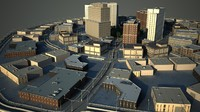 3ds max cityscape scene office buildings