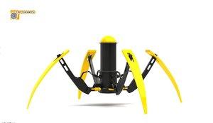 spider robot - 3d model