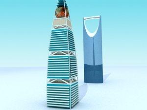 skyscraper riyadh saudi arabia 3d 3ds