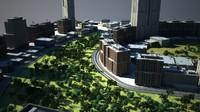 3d cityscape scene