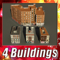 3d building 53-56 collections model