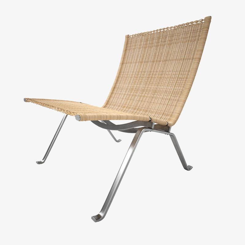3d model rattan lounge chair