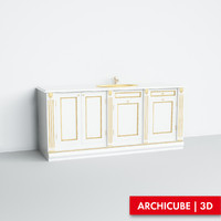 3d fbx cabinet basin