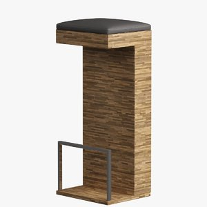 3d bar bench model