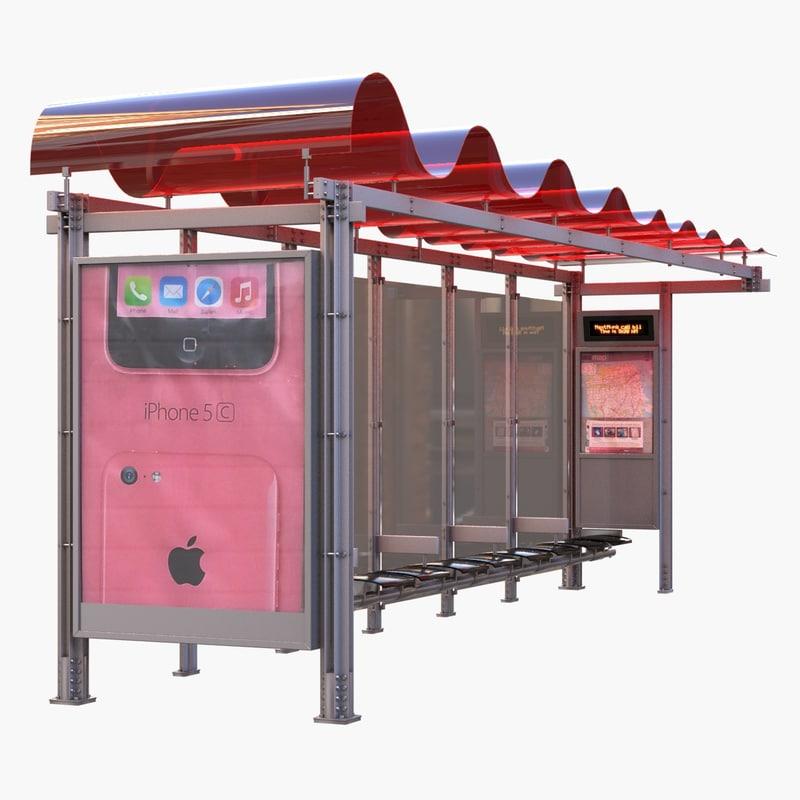 3d bus shelter - san francisco