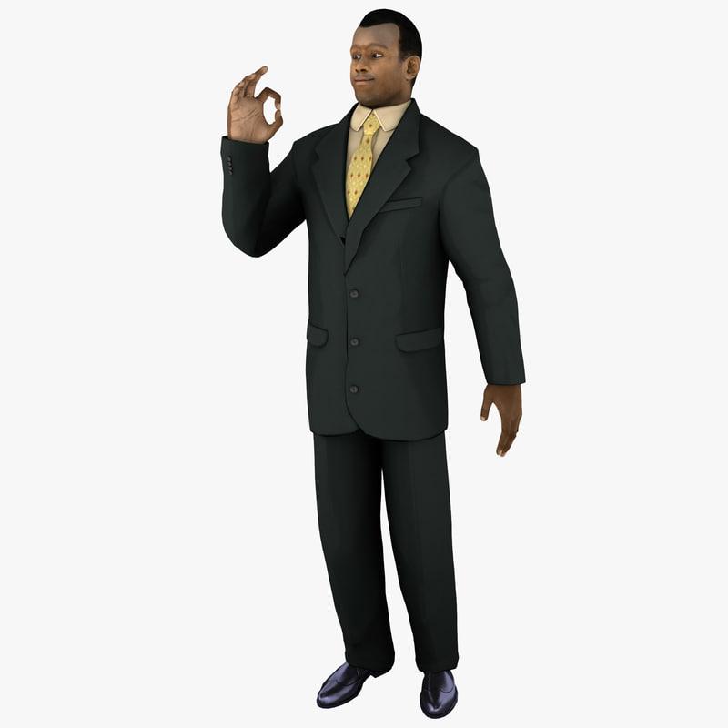 businessman 4 pose 2 3d model