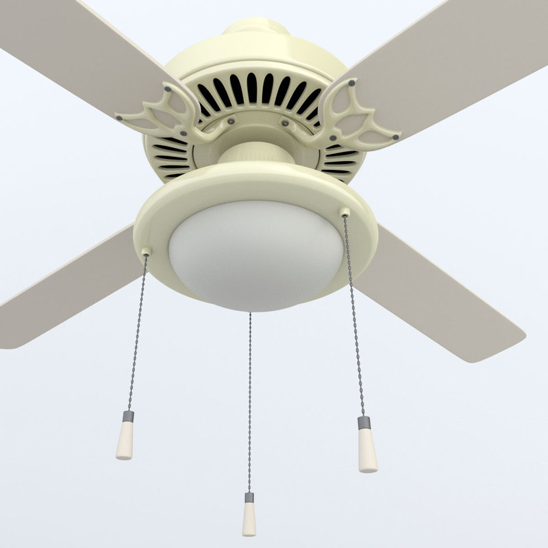 ceiling fan lighting 3d model