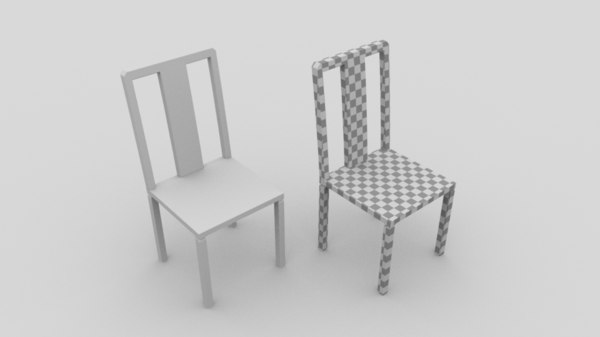 simple chair 3d obj