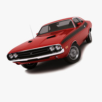 dodge challenger 1974 3d 3ds