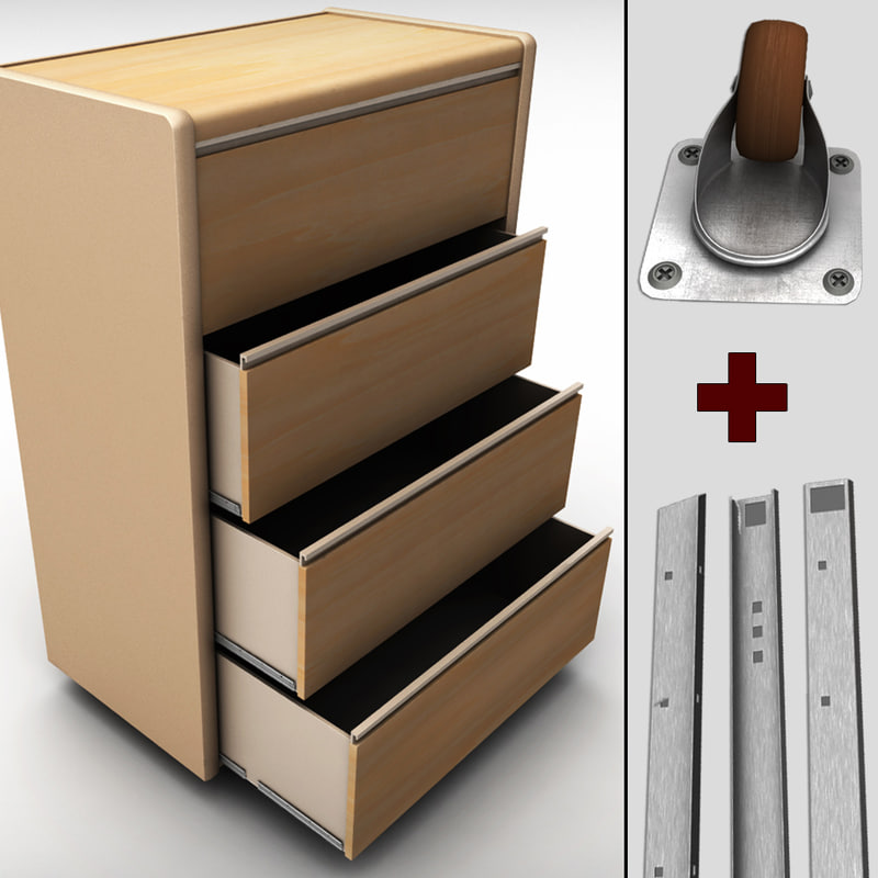chest drawers cabinet 3ds