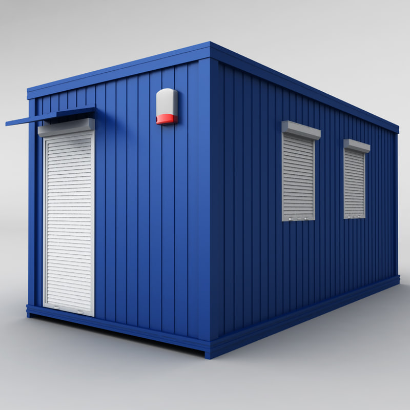 container shipping house 3d 3ds