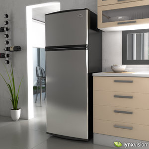 freezer refrigerator whirlpool 3d model